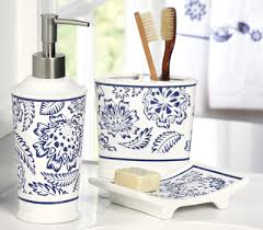 westbrook blue u0026 white bathroom accessory set for the home