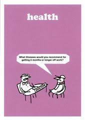 greeting card modern toss what illnesses would you