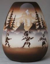 Indian Wedding Vase Story Cedar Mesa Pottery Native American Hand Painted Pottery Call