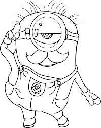minion show coloring page wecoloringpage