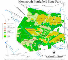 Freehold Mall Map Monmouth Battlefield State Park U2013 Snowshoe Njhiking Com