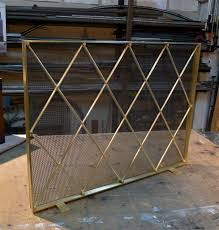 Fireplace Metal Screen by Paint And Remove Paint Brass Fireplace Screen Med Art Home