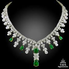 diamond emerald necklace images Tiffany co diamond emerald necklace yafa signed jewels jpg