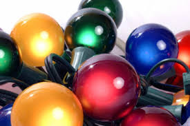 Christmas Lighted Balls Outdoor by Set Of 15 Multi Satin G50 Globe Christmas Lights Green Wire