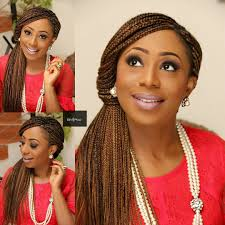 How To Braid Extensions Into Your Hair by Dakore Akande Dishes Trendy Unique Box Braids Updo Wedding
