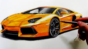 lamborghini sketch side view drawing lamborghini aventador youtube