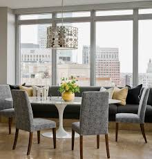 Gray Leather Dining Room Chairs Stunning Banquette Dining Set Wooden Round Dining Table Leather