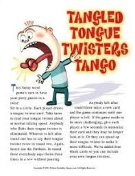 tongue twisters printable