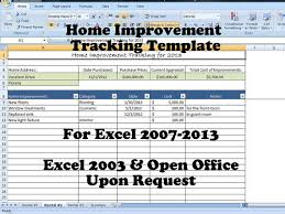 Home Maintenance Spreadsheet by Home Improvement Tracking Template In Excel Spreadsheet