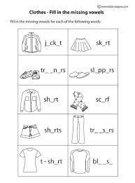clothes fill in b u0026w worksheet