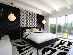 schlafzimmer schwarz wei schlafzimmer schwarz weiß muster hängelen schlafzimmer ideen