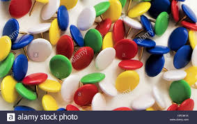 Pushpins Colored Push Pins On A White Background Stock Photo Royalty Free