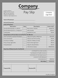 2 payslip template free word templates