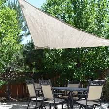 Coolaroo Umbrella Review by Coolaroo All Purpose 9 8 Ft Triangle Party Shade Sail Hayneedle