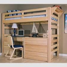 Bunk Bed With Crib On Bottom by Full Size Bunk Bed With Desk Underneath Rich Red Wood Tones