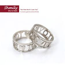 wedding band names silver couples rings personalized name ring handmade anniversary