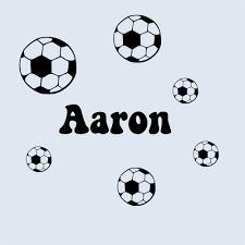 soccer balls with custom name wall decal sticker