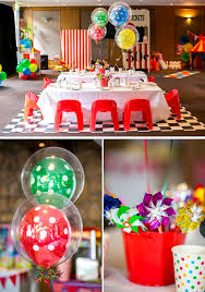 Carnival Themed Table Decorations Kara U0027s Party Ideas Circus Carnival Boy 5th Birthday Party