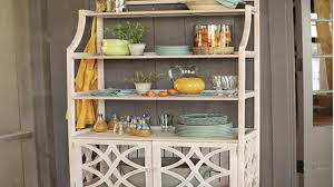 bakers rack with cabinet kitchen bakers rack cabinets youtube