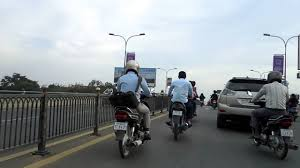 Cambodia trip Russian boulevard traffic in Cambodia