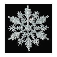12 pc silver 4 inch snowflake ornaments