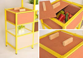 Kitchen Storage Shelving Unit - food storage system reinventing traditional kitchen storage ideas
