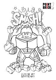 disegni da colorare lego marvel super heroes hulk clicca