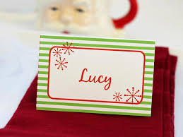 Table Card Template by Templates For Customizable Holiday Place Setting Cards Diy