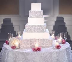 rhinestone cake stand square cakestand