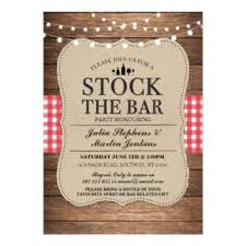 stock the bar party couples shower stock the bar invitations announcements zazzle