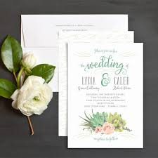 succulent wedding invitations succulents wedding invitations by emily elli