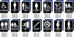 braille bathroom signs for decor need a braille ada signs we have