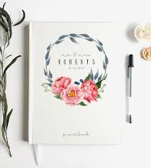 customizable guest books custom peony wreath wedding guest book stationery paper goods