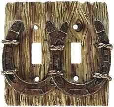 cool light switch covers cool cowboy horseshoe 3 d double light switch cover switch plates
