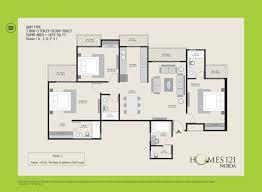 500 Square Foot House Floor Plans by Ajnara Homes 121 Noida Floor Plan