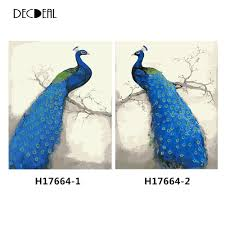 online get cheap hand painted peacock paintings aliexpress com
