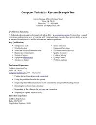 Sample Resume Key Qualifications by Sample Resume For Nurse Samples And Help Technician Sle Resume For