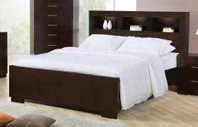 bookcase bedroom set coaster jessica queen contemporary bed with storage headboard and