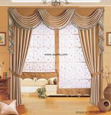 Window Curtains Design Swag And Cascade Stationary Panels Inspired Drapes