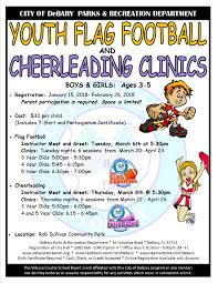 Cheerleader Flags City Of Debary Fl Now Registering For Youth Flag Football And