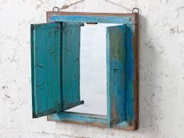 shabby chic mirror with shutters wooden mirrors scaramanga