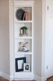 diy built in corner shelving unit u2026 bedroom hallway followpics