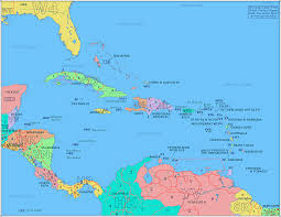 carribbean map radio prefix map of eastern caribbean