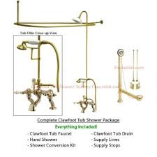 Clawfoot Tub Faucet With Shower Buy Polished Brass Clawfoot Tub Faucet Shower Kit With Enclosure