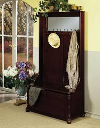 hall tree coat rack storage bench spectacular choice on the hall