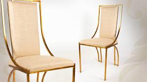 chaise dorée chaise design en métal doré et patiné de style contemporain