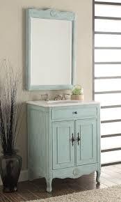 Distressed Bathroom Vanities Ideas Distressed Bathroom Vanity With Inspiring Distress Light