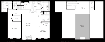 Fireplace Floor Plan Floor Plans Brompton House Apartments And Townhomes For Rent