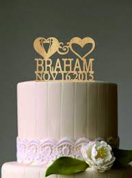 mr and mrs cake topper personalized custom wedding cake topper