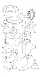 Kitchenaid Toaster Oven Parts List Base And Pedestal Unit Diagram U0026 Parts List For Model K5ss